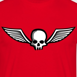 wingskull_comic_3c T-shirts - Mannen T-shirt