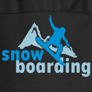 Snowboarding mountains (2 colors) Fartuchy - Fartuch kuchenny