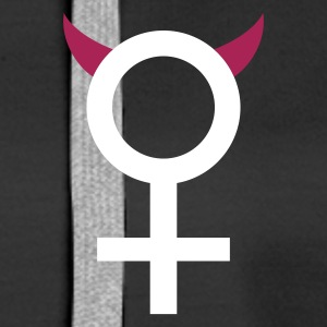devil_woman_2c Sweat-shirts - Sweat-shirt à capuche Premium pour femmes