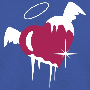 Cold heart with a halo, wings and icicles Hoodies & Sweatshirts - Men's Sweatshirt