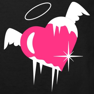 Cold heart with a halo, wings and icicles Kids' Shirts - Kids' Organic T-shirt