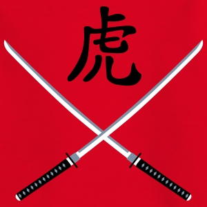 samurai_schwert_tiger_b_3c T-shirts - Teenager-T-shirt