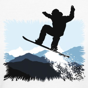 Snowboarder Action Jump T-Shirts - Frauen Bio-T-Shirt