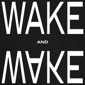 wake and make T-shirts - T-shirt contraste Homme