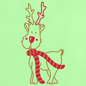 Reindeer with Scarf Baby Shirts  - Baby T-Shirt