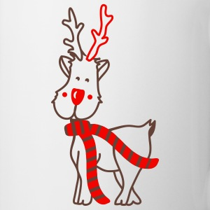 Reindeer with Scarf Mugs  - Mug