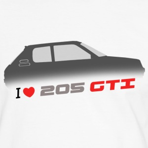 I love 205 gti  T-shirts - T-shirt contraste Homme
