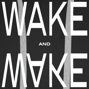 wake and make Gensere - Premium hettegenser for menn