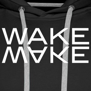 wake make Gensere - Premium hettegenser for menn