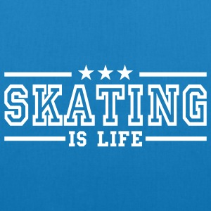 skating is life deluxe Borse - Borsa ecologica in tessuto