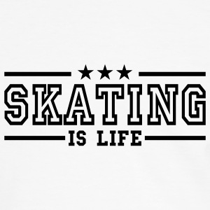 skating is life deluxe T-Shirts - Men's Ringer Shirt