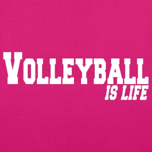 volleyball is life Borse - Borsa ecologica in tessuto