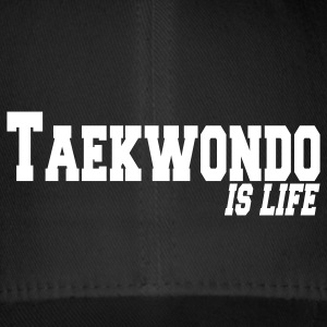 taekwondo is life Caps & Hats - Flexfit Baseball Cap