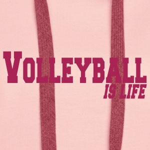 volleyball is life Sweaters - Vrouwen Premium hoodie