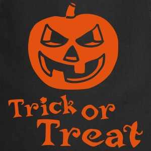 halloween_pumpkin_1c_trick_or_treat_blac Delantales - Delantal de cocina