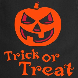 halloween_pumpkin_2c_trick_or_treat_blac Delantales - Delantal de cocina