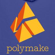 Design ~ polymake men's hoodie (orange)