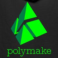 Design ~ polymake men's hoodie (green)