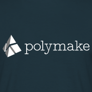 Design ~ polymake men's t-shirt (white/grey)