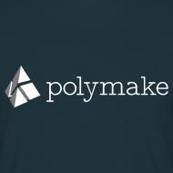 Design ~ polymake men's t-shirt (white/grey)