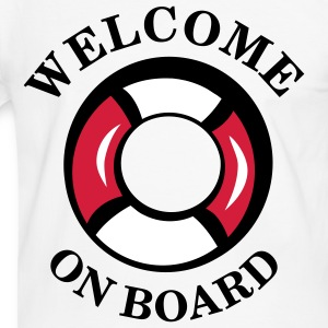 welcome_on_board T-Shirts - Männer Kontrast-T-Shirt
