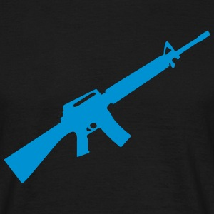 M16 M4 Rifle Gun Weapon maskin T-shirts - T-shirt herr