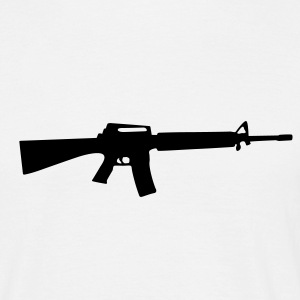 M16 M4 rifle Gun Weapon maskin T-skjorter - T-skjorte for menn