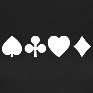 Spades diamond cross heart - card deck T-Shirts - Women's T-Shirt