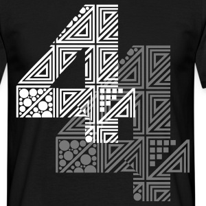 Zwart 4 number four T-shirts - Mannen T-shirt