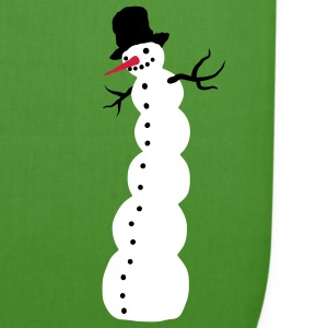 Leaf green snowman Bags  - EarthPositive Tote Bag
