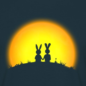 Noble brown bunny bunnies hare rabbit date sunset Hoodies & Sweatshirts T-Shirts - Men's T-Shirt
