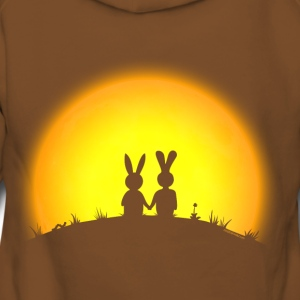 bunny bunnies hare rabbit date sunset Hoodies & Sweatshirts - Women's Premium Hoodie