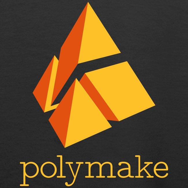 polymake women's hoodie (orange)