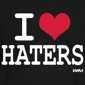 i love haters by wam T-shirts - T-shirt contraste Homme