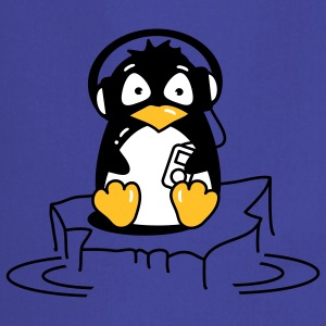 Penguin is listening to music  Aprons - Cooking Apron