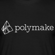 Design ~ polymake men's t-shirt (outlined logo)