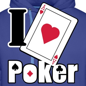 Love poker - Sweat-shirt à capuche Premium pour hommes