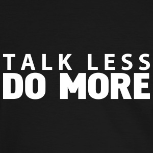 talk less do more T-shirts - T-shirt contraste Homme