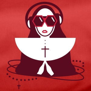 The nun  with sunglasses and headphones Bags  - Duffel Bag