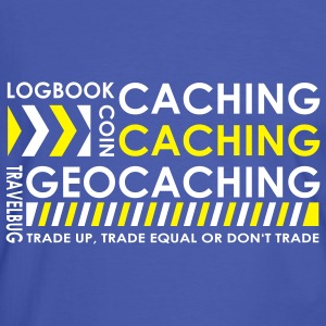 Caching-caching-geocaching 2color - Männer Kontrast-T-Shirt