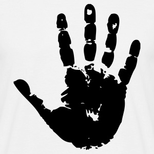 handprint hand print sign T-shirts - Herre-T-shirt