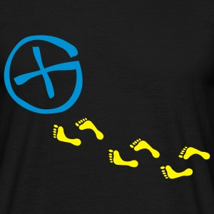 footprints - 2color - Männer T-Shirt