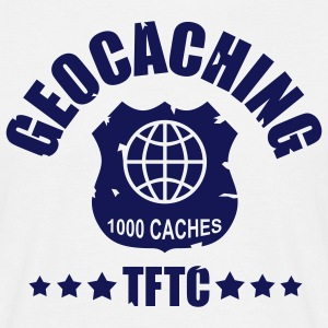 geocaching award 1000, 1 color - front - Camiseta hombre