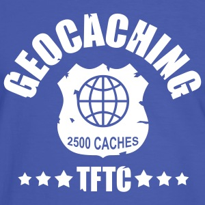 geocaching award 2500, 1 color - front - Camiseta contraste hombre