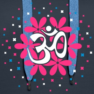 The Om flower bouquet Hoodies & Sweatshirts - Women's Premium Hoodie