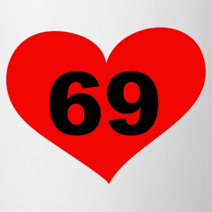69 Love, Liebe, Heart, 69, Herz, Sex, Hot, Heiss, Pervers, Singles, Saufen, Party - eushirt.com Tassen - Tasse