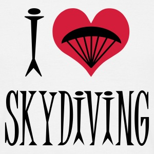 I Love Skydiving - Men's T-Shirt