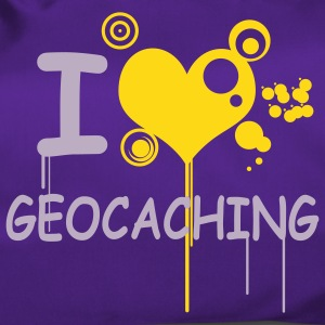 I love geocaching 2color - Sporttasche