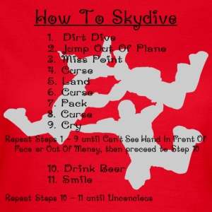 How To Skydive - Women's T-Shirt