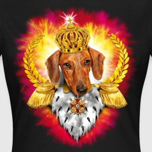 Dachshund the King - Crown Krone - Dackel Feuer K - Frauen T-Shirt